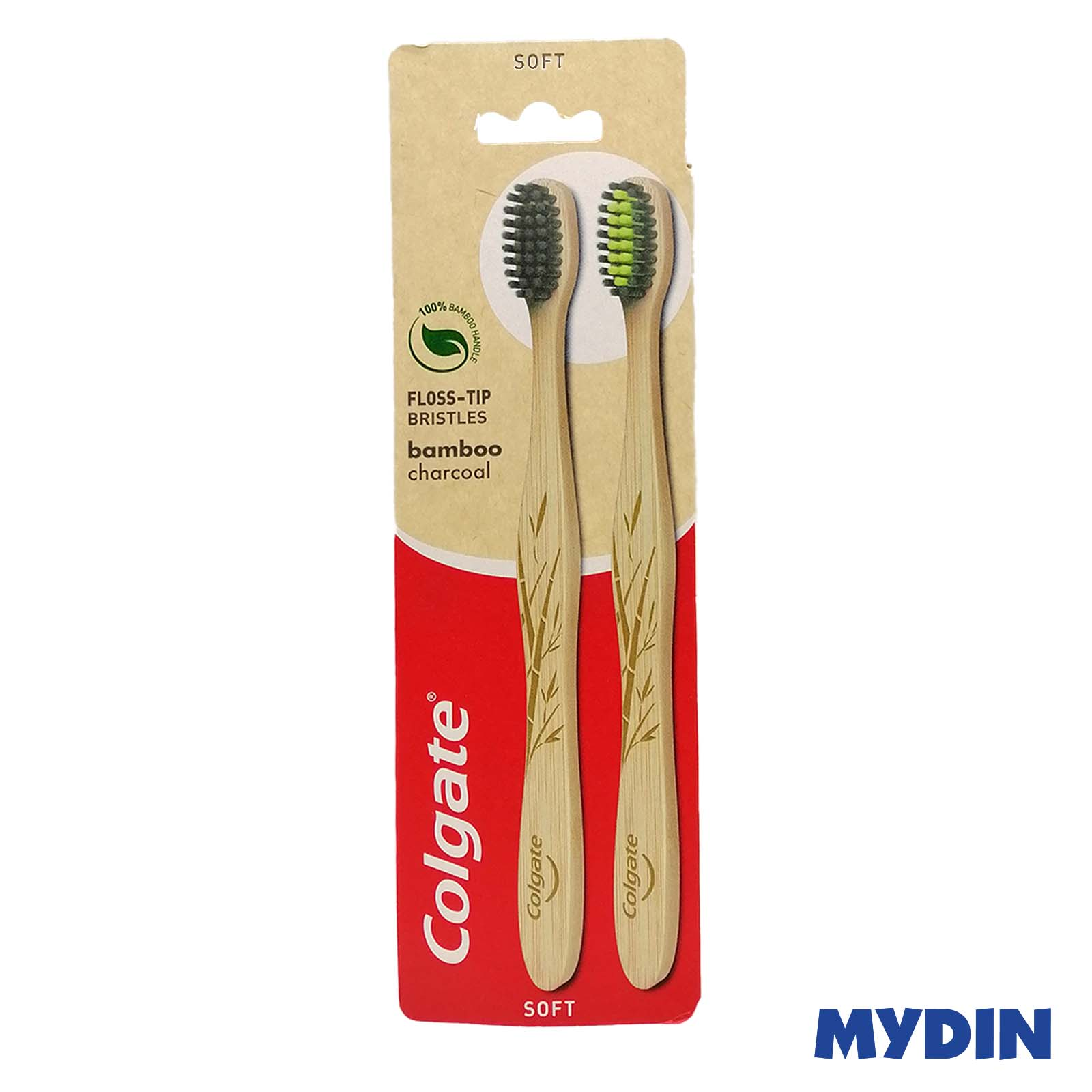 Colgate Toothbrush Bamboo Charcoal 2s