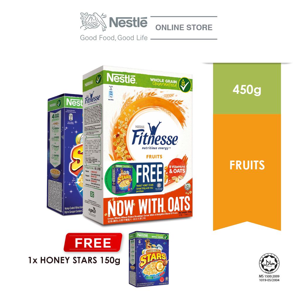 Nestle Fitnesse Fuit Cereal 450g Free Honey Star 150g