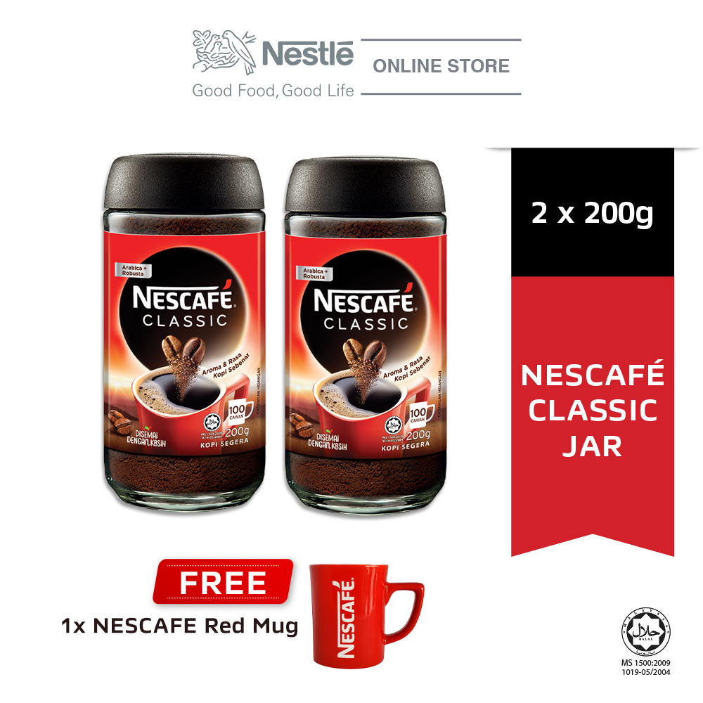 Nescafe Classic Jar 200g Buy 2 Free 1 Nescafe Red Mug
