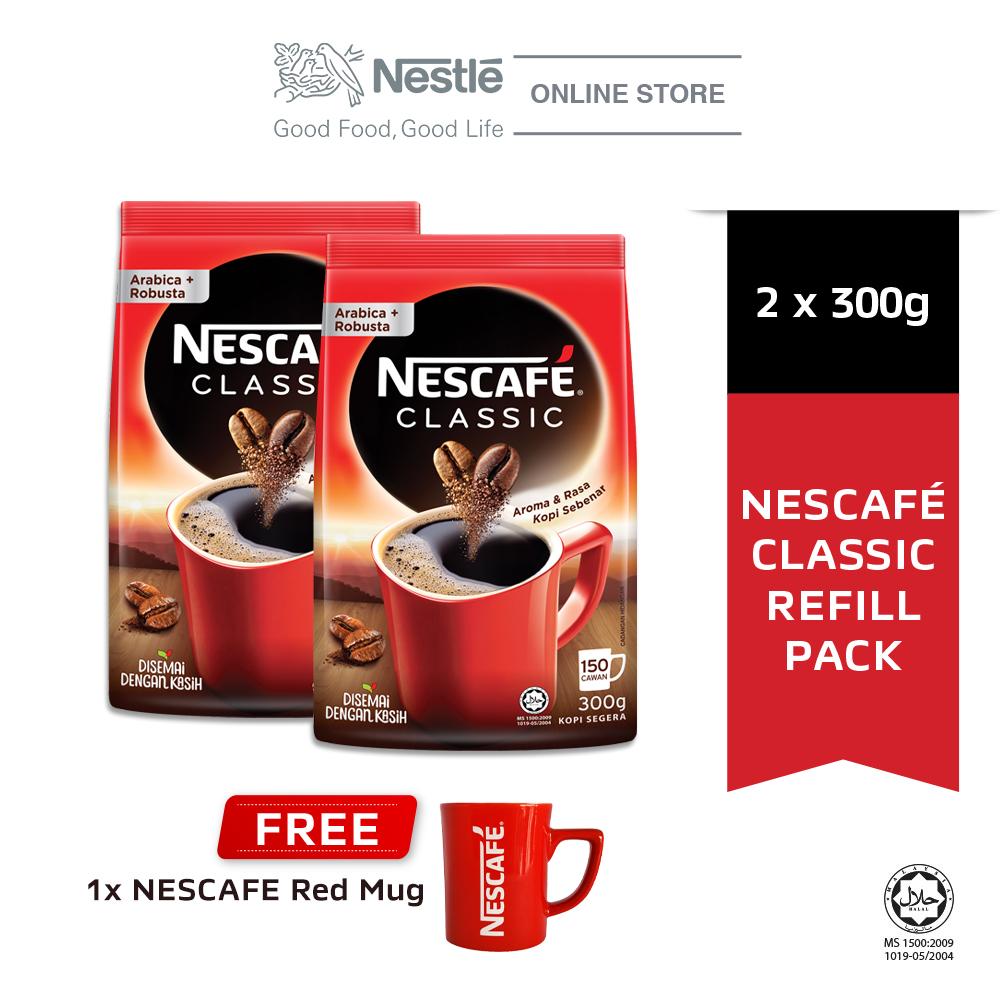 Nescafe Classic Refill 300g Buy 2 Free 1 Nescafe Red Mug