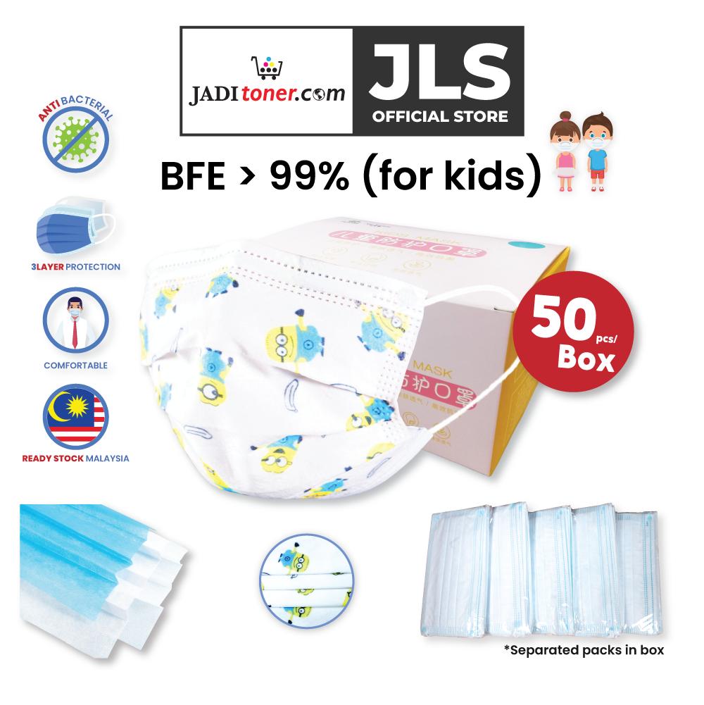 Children Face Masks 3-Ply White Minions (50pcs/Box) - JADIKIDS
