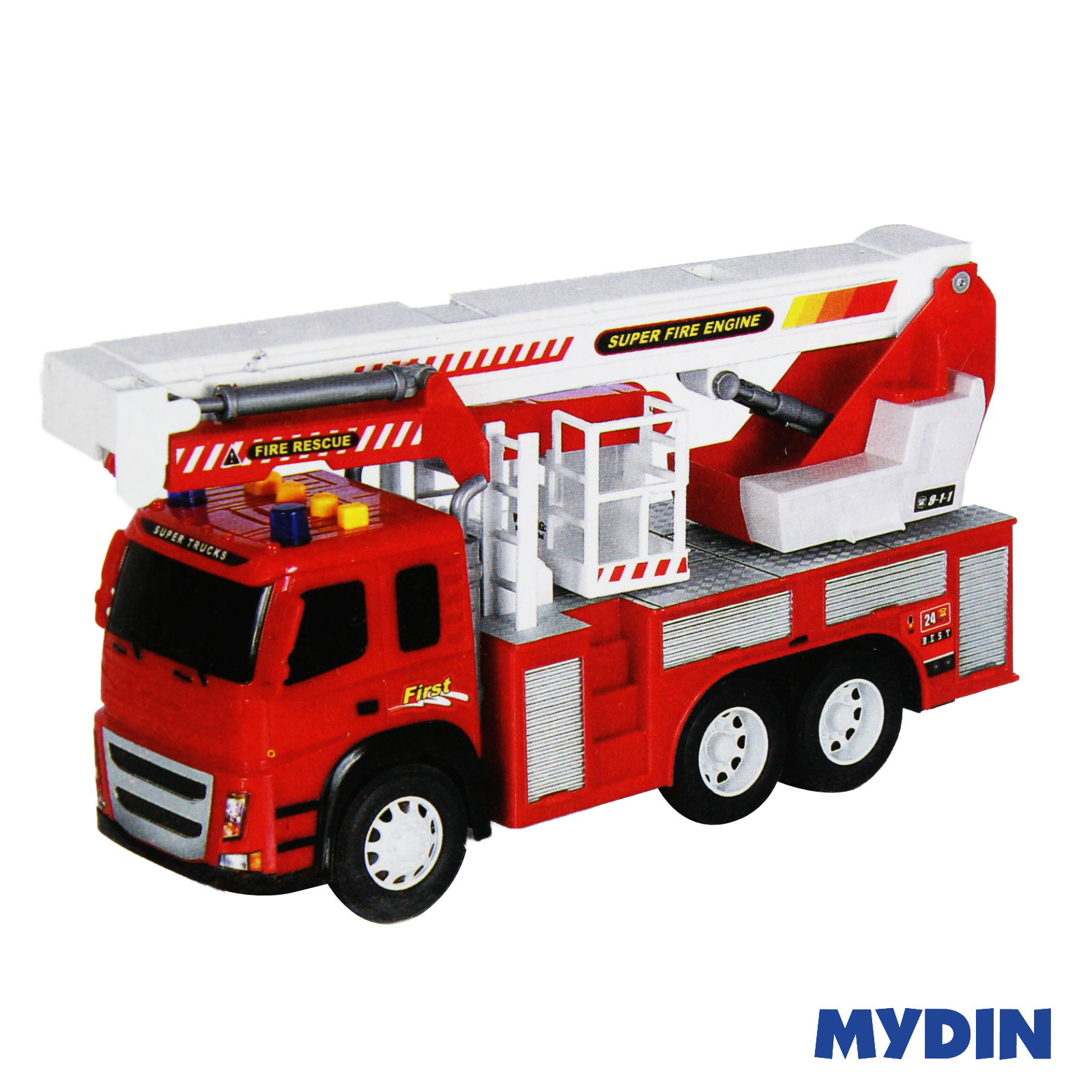 Fire Engine Truck Friction Powered Kids Toys vehicle model 1:12 scale