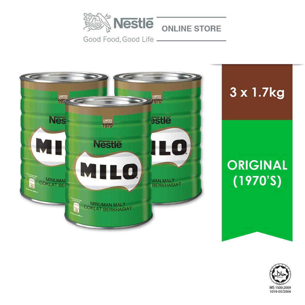 MILO ACTIVE GO Limited Edition Vintage Tin (1970\) 1.7kg, Buy 3 Free 2 Maggi Pazzta