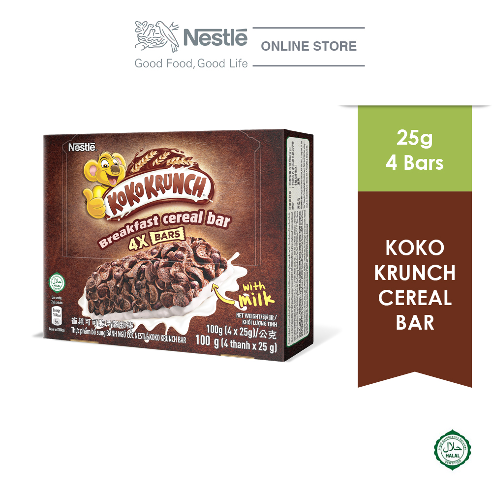 NESTLÉ KOKO KRUNCH Chocolate Cereal Bar Multipack 4x25g