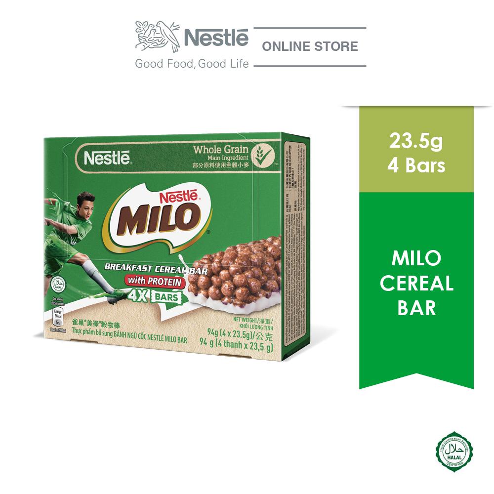 NESTLÉ MILO Chocolate Cereal Bar Multipack 4x25g