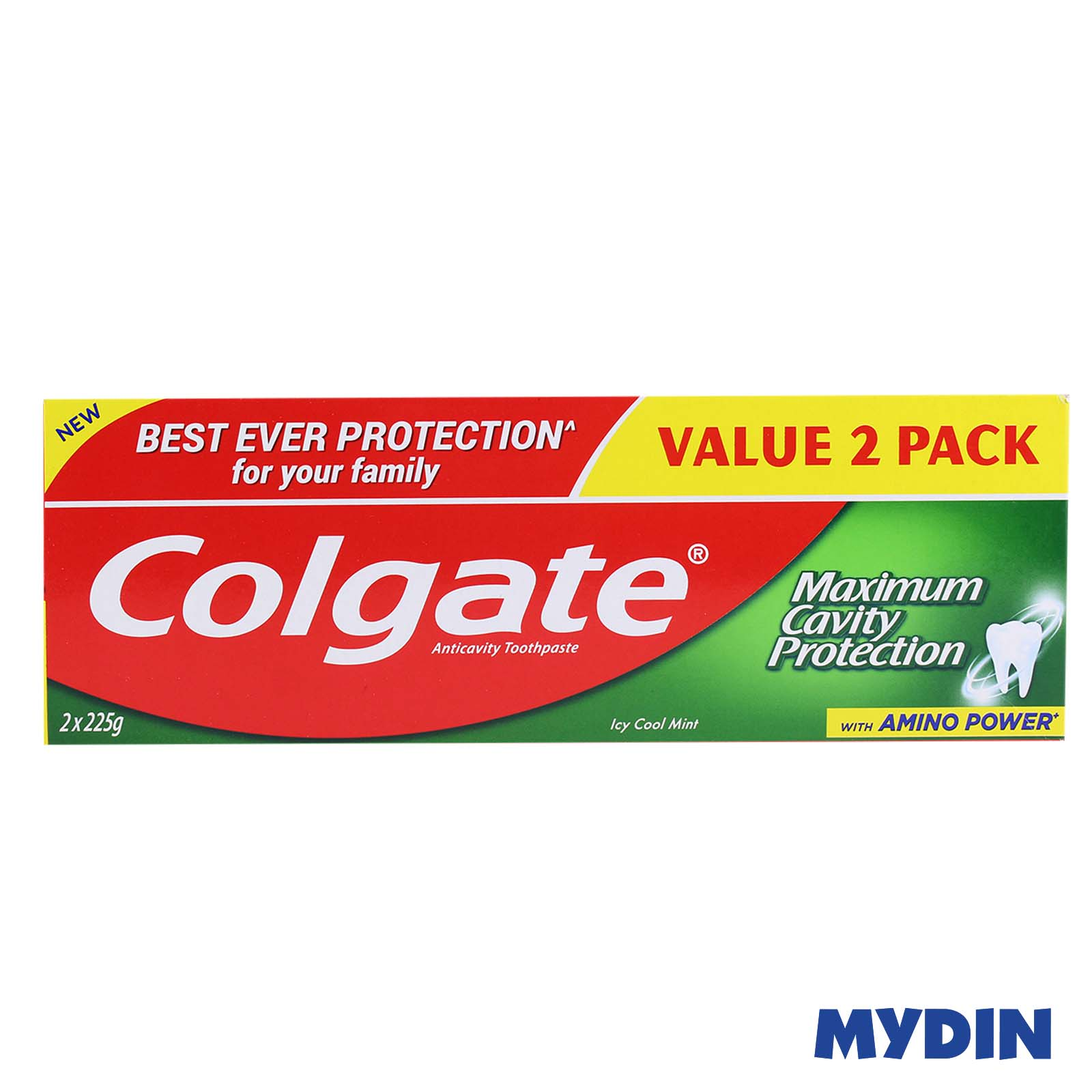 Colgate Anticavity Fluoride Toothpaste Icy Cool Mint (225g x 2)
