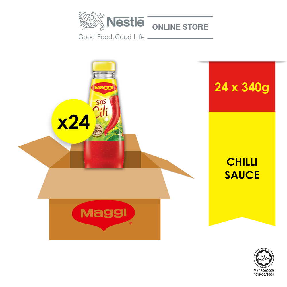 MAGGI Chilli Sauce 340g x24 bottles (Carton) ExpDate: Mar 2021
