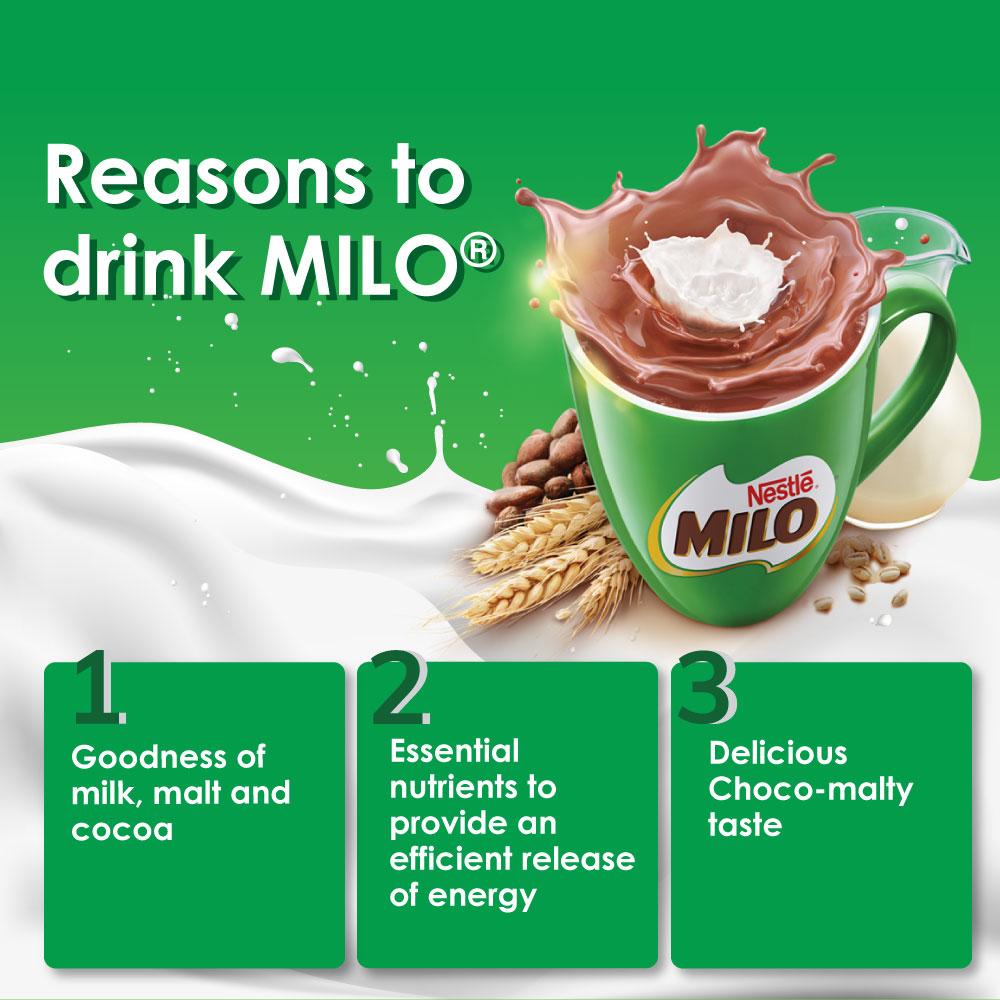 NESTLE MILO 3IN1 ACTIV-GO 18 Sticks, Buy 2 Free 1 MILO Mug