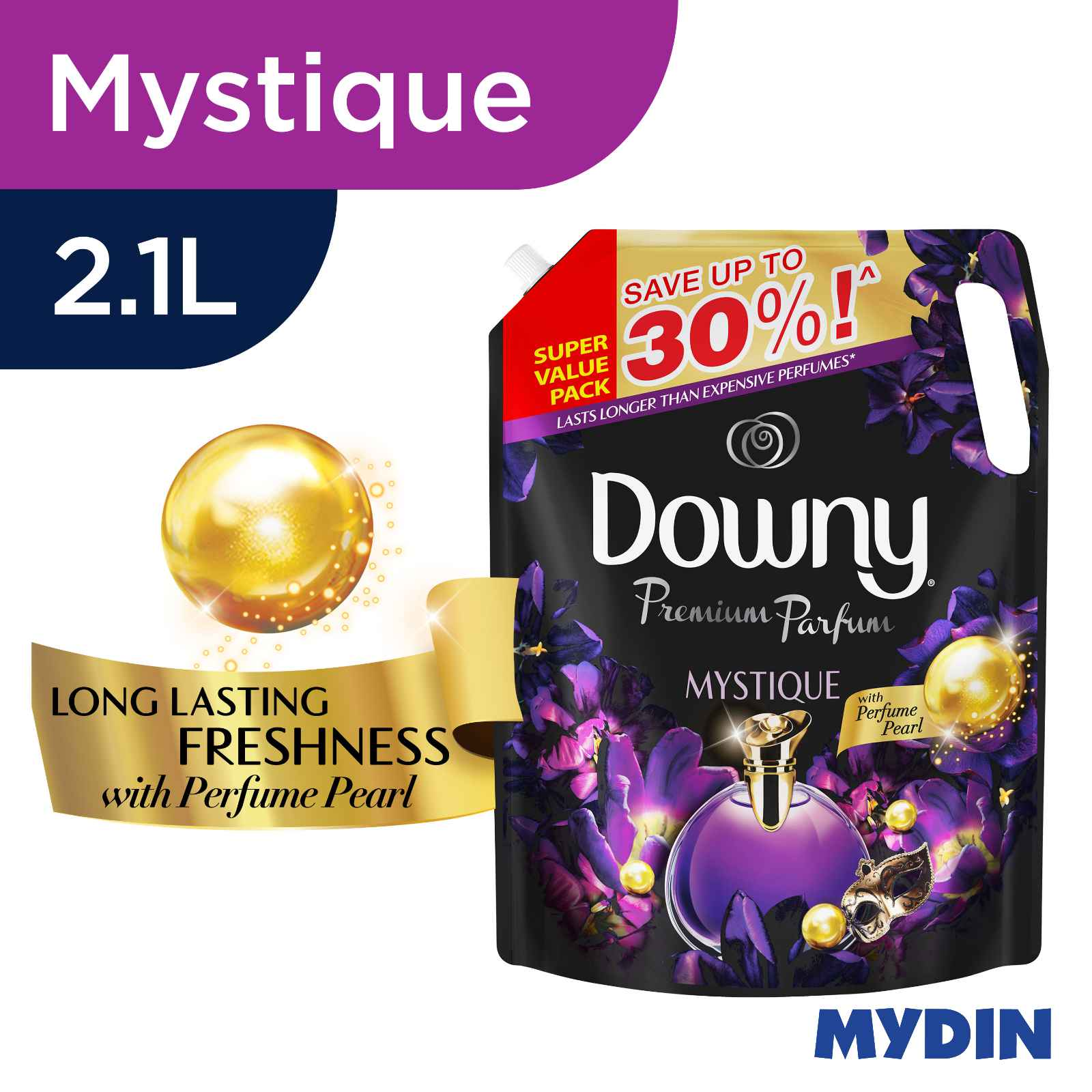 Downy Concentrated Fabric Softener Refill Mystique (2.1L)