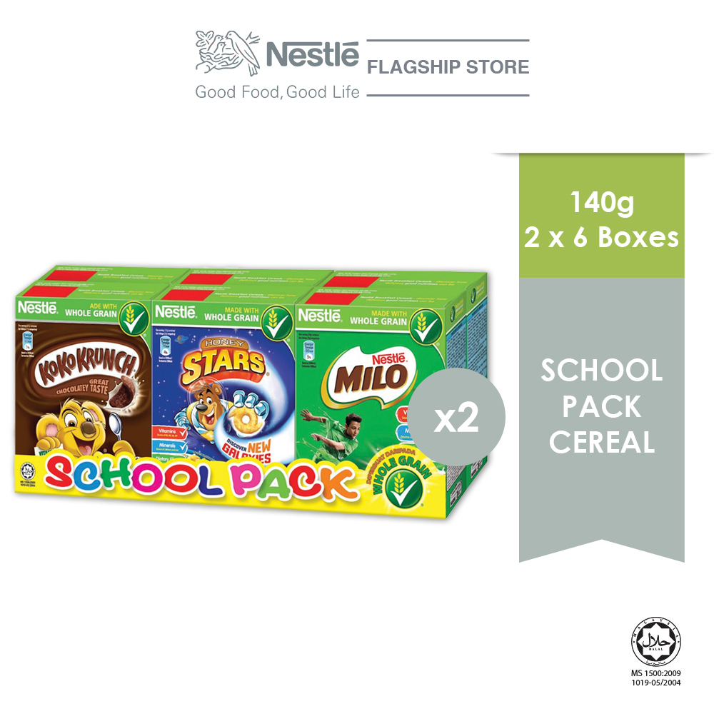 NESTLE School Pack Cereal 6 Boxes 140g x2 boxes