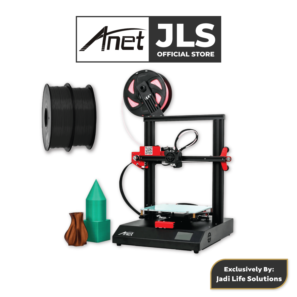 Anet ET4 All-Metal 3D Printer With Industrial Grade Chipset + 2x Black PLA - JADI LIFE