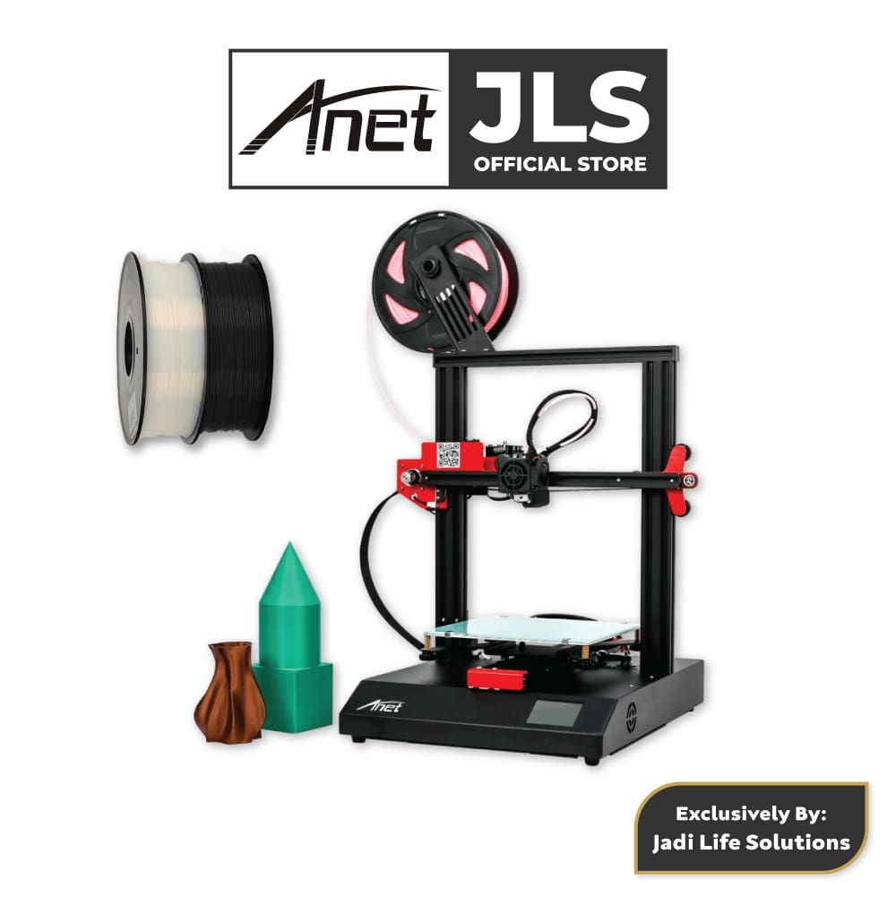 Anet ET4 All-Metal 3D Printer With Industrial Grade Chipset + 2x Black & White PLA - JADI LIFE