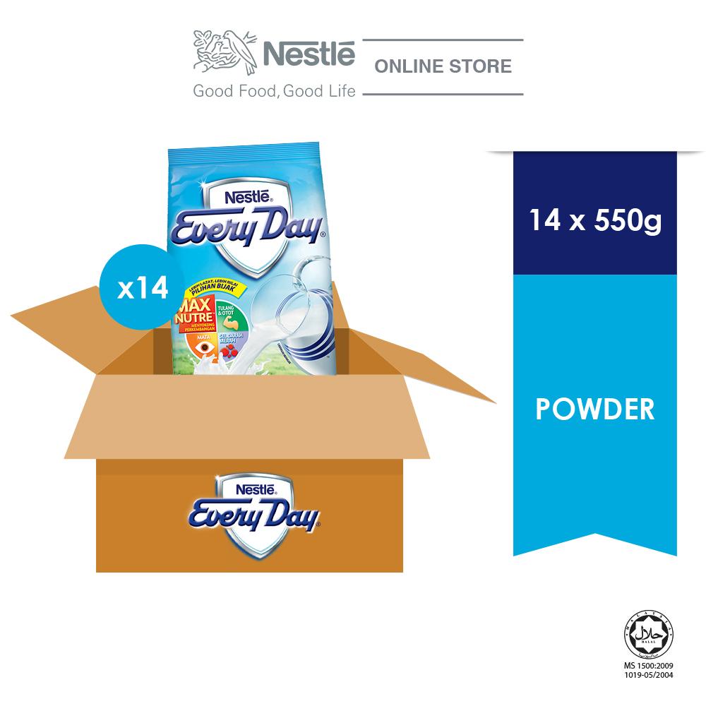NESTLE EVERYDAY Milk Powder Softpack (14x 550g) carton