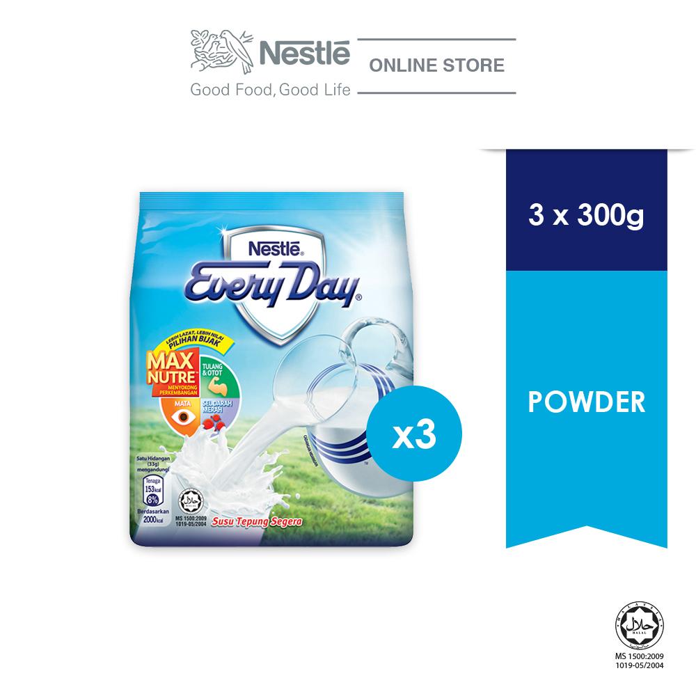 NESTLE EVERYDAY Milk Powder Soft Pack 300g, Bundle of 3