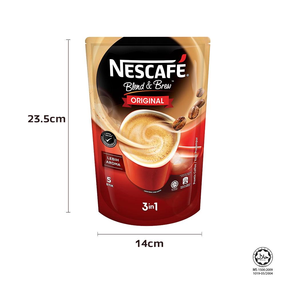 NESCAFÉ Blend and Brew Original 5 Sticks 19g Each, x3 packs, ExpDate: Aug21