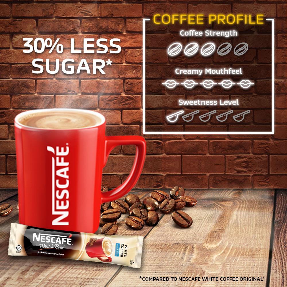NESCAFE Blend and Brew White Coffee 15 Sticks 32g Each x2 packs