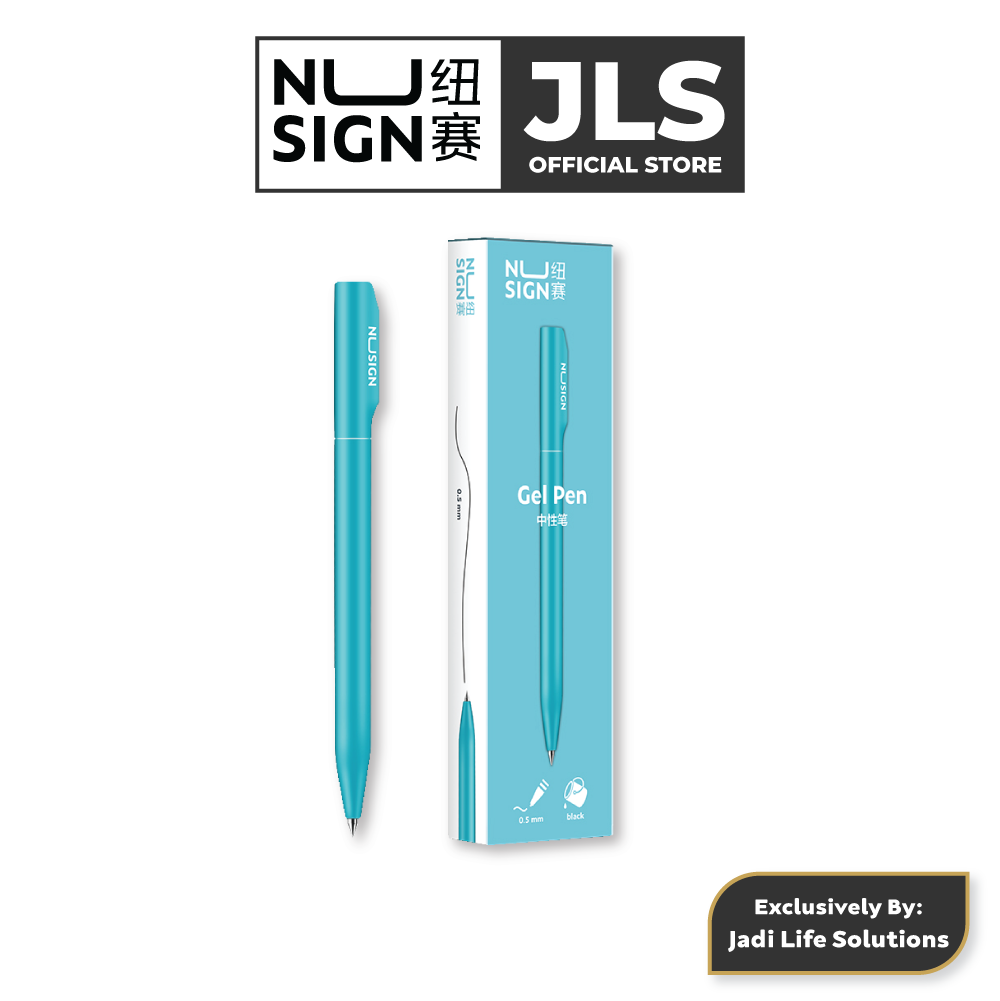 Jadi Nusign Rotary Gel Pen 0.5mm Writing Pen Black Ink (Light Blue)