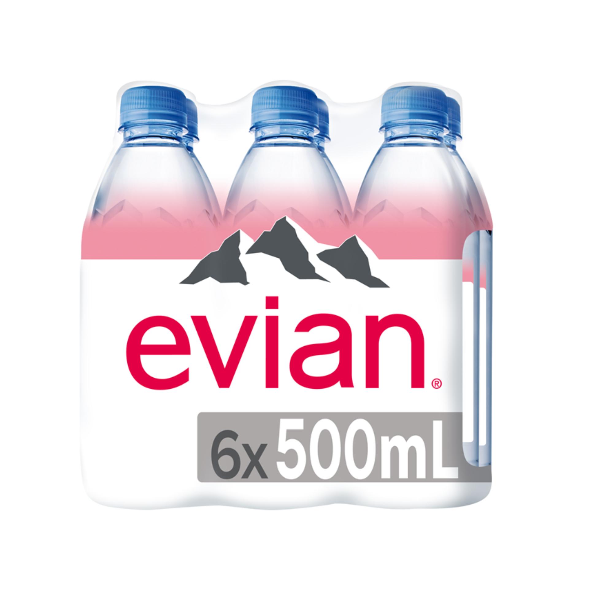 Evian Mineral Water Prestige 500ml x 6