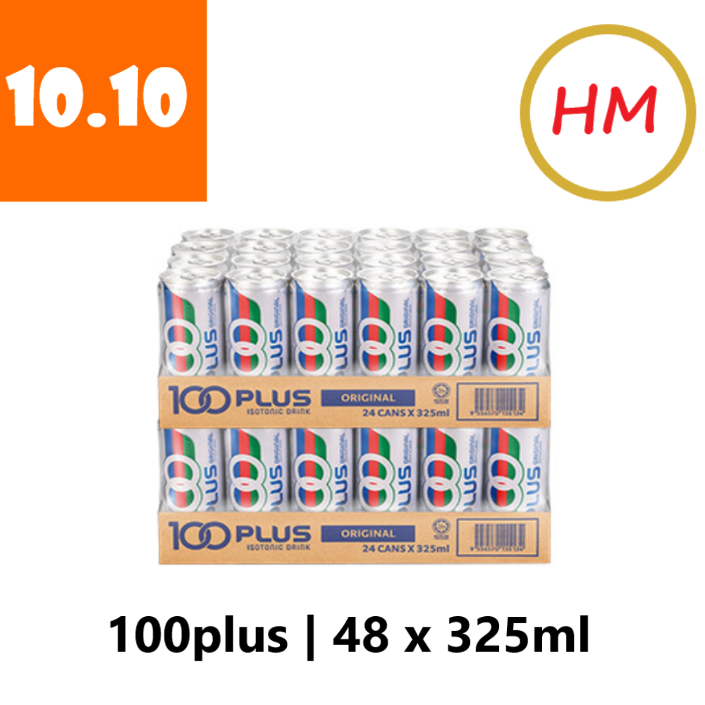 100Plus Regular (24 can x 325ml) x 2 Carton