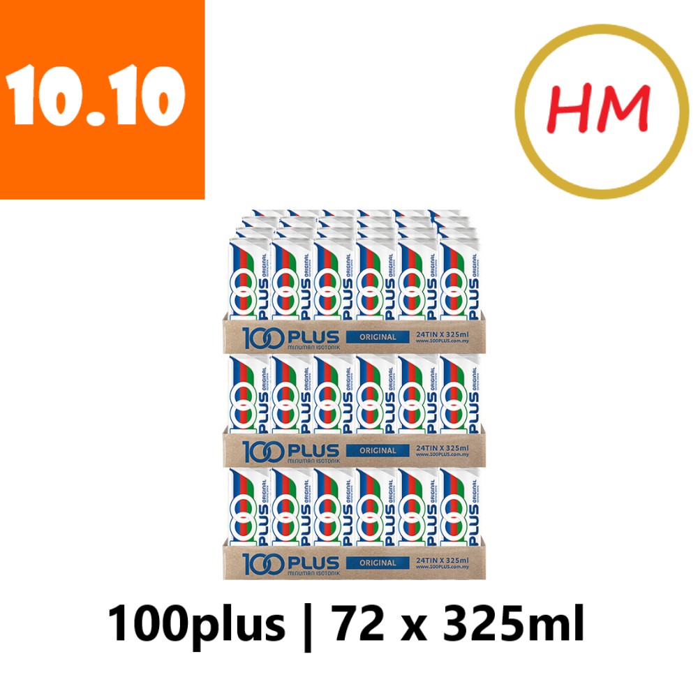 100Plus Regular (24 can  x 325ml) x 3 carton