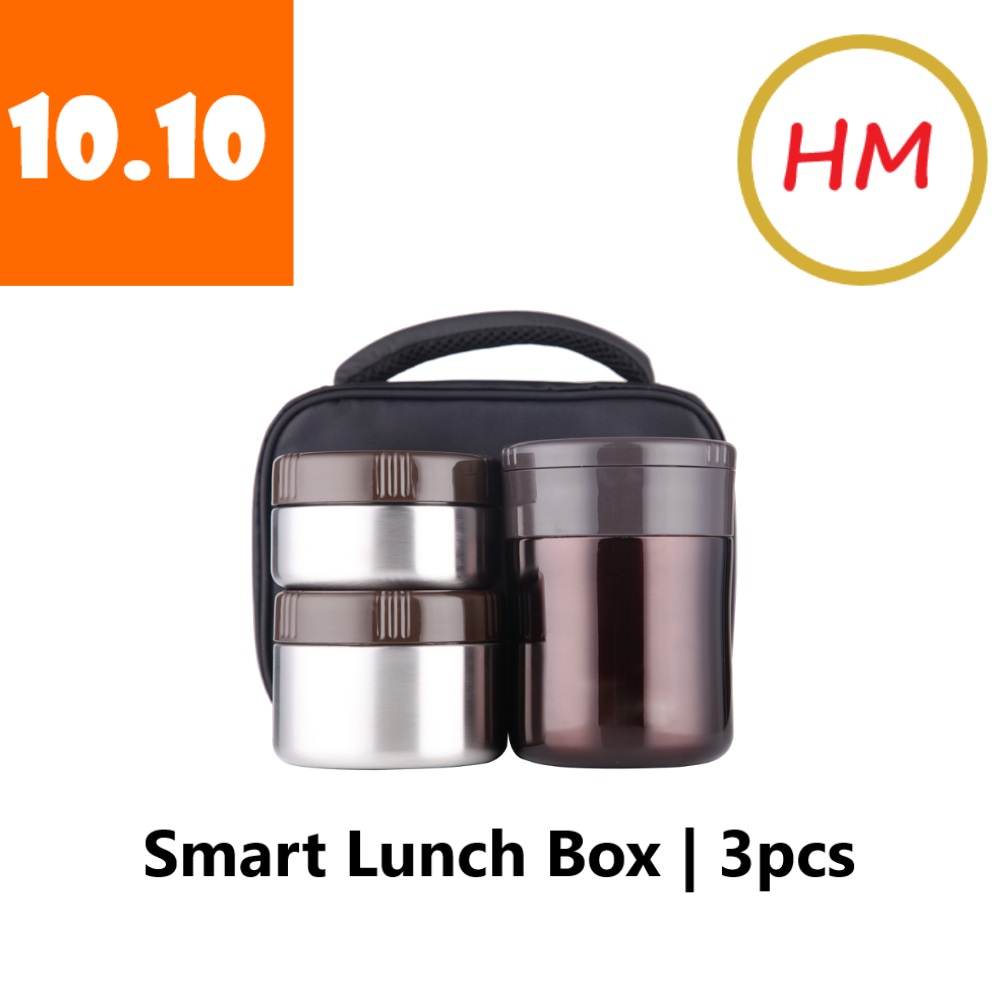 La gourmet The Smart Lunch Box 3pcs Thermal Lunch Set