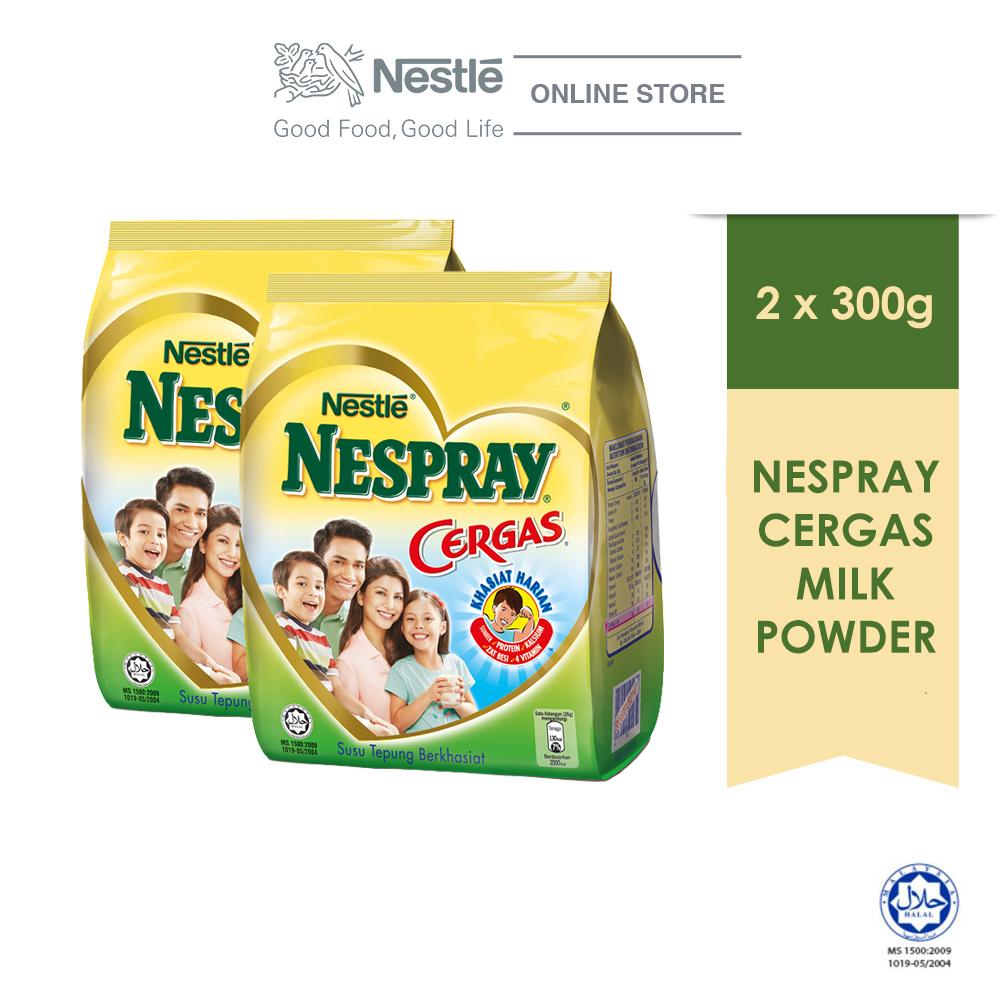 NESPRAY CERGAS Milk Powder Softpack 300g, Bundle of 2