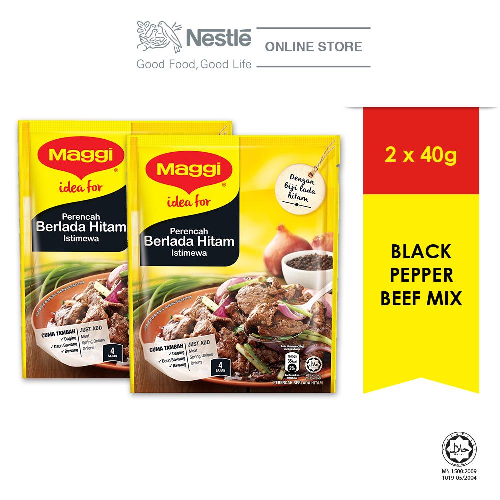 MAGGI Black Pepper Beef Mix 40g, Bundle of 2