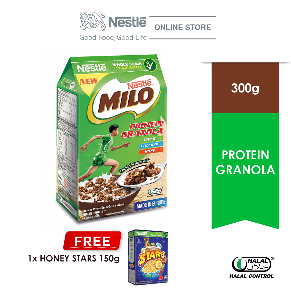 Nestle Milo Granola 300g Free Honey Star 150g