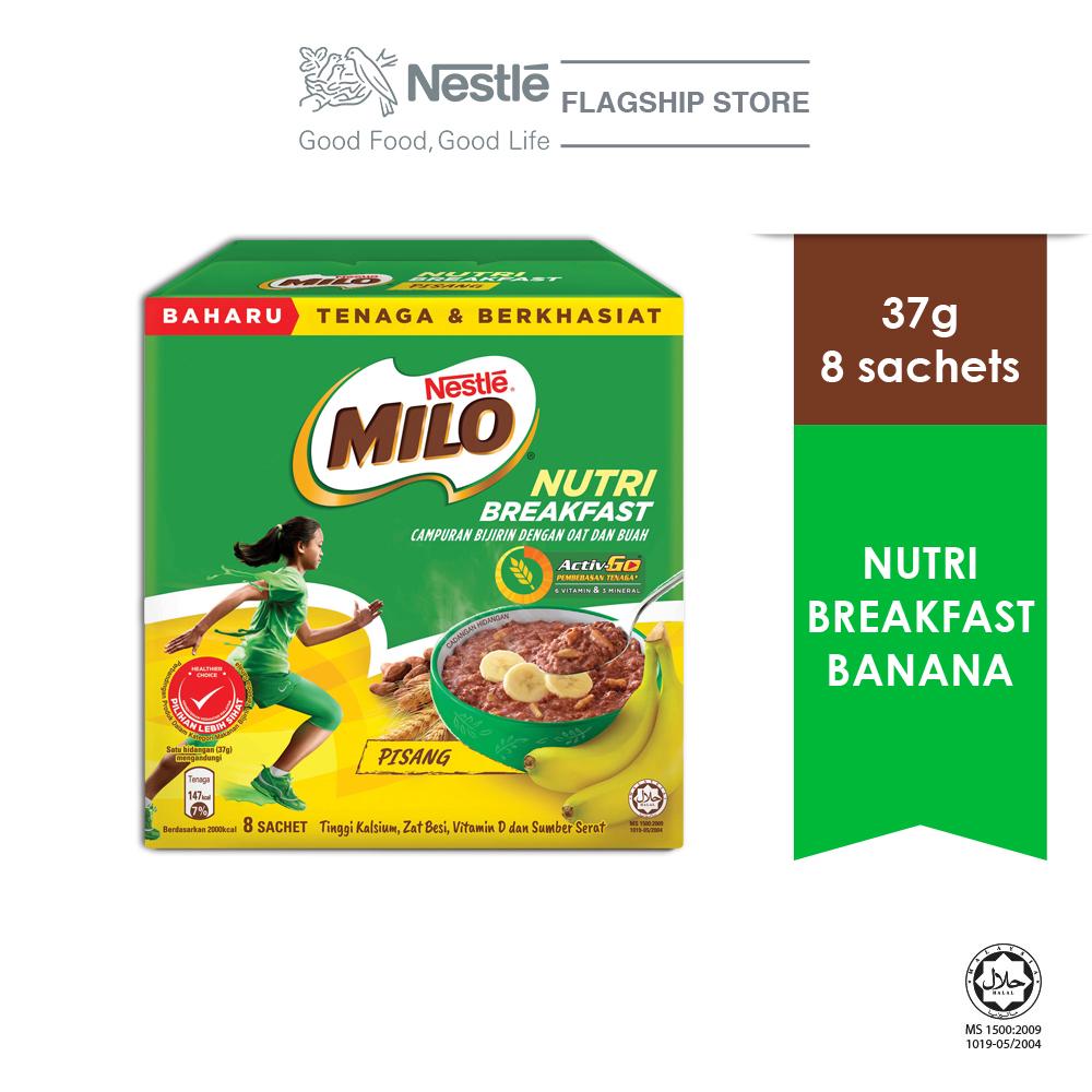 Nestle MILO Nutri Breakfast Banana 8x37g