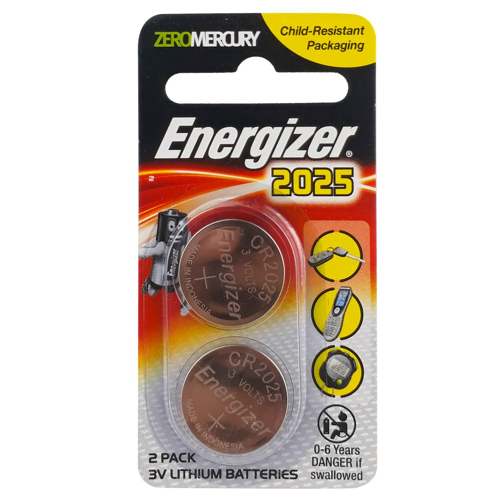 Energizer Lithium Coin CR2025 Batteries ECR2025BS2G