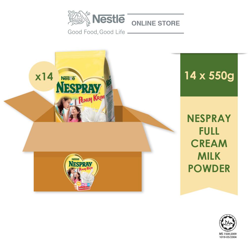 NESPRAY Full Cream Powder Softpack 550g x14 Packs (Carton)