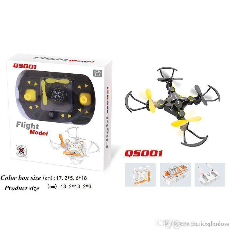 Mini Foldable Drone with 720p HD Wifi Camera 2.4G Auto Hover RC Quadcopter QS001