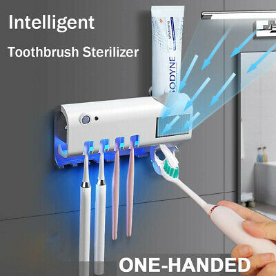 Multi-Function Toothbrush Sterilizer / Solar Electric Auto Toothpaste Dispenser / UV Sterilization / Smart Infraed