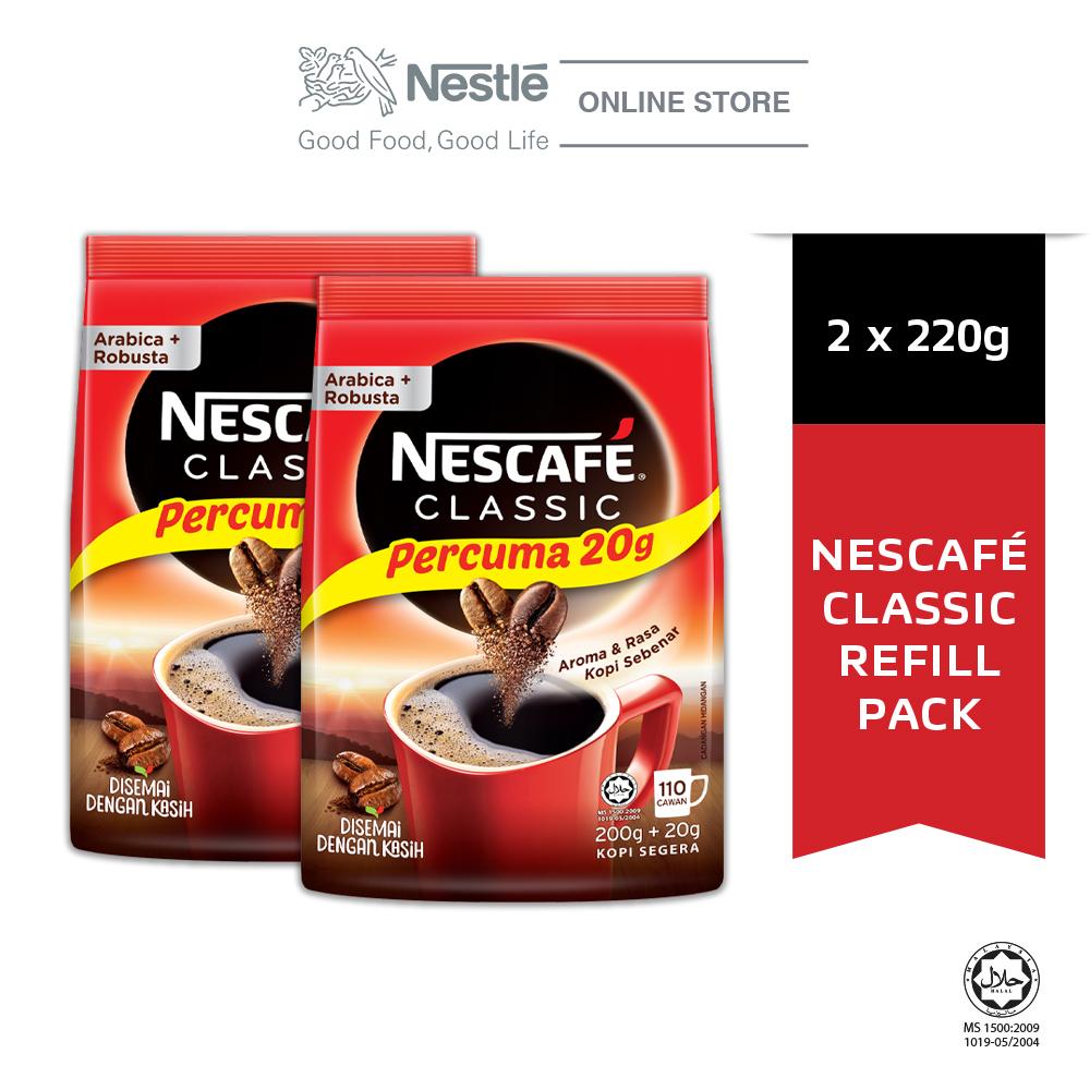 NESCAFE CLASSIC Refill Pack 220g Bonus Pack x2 packs