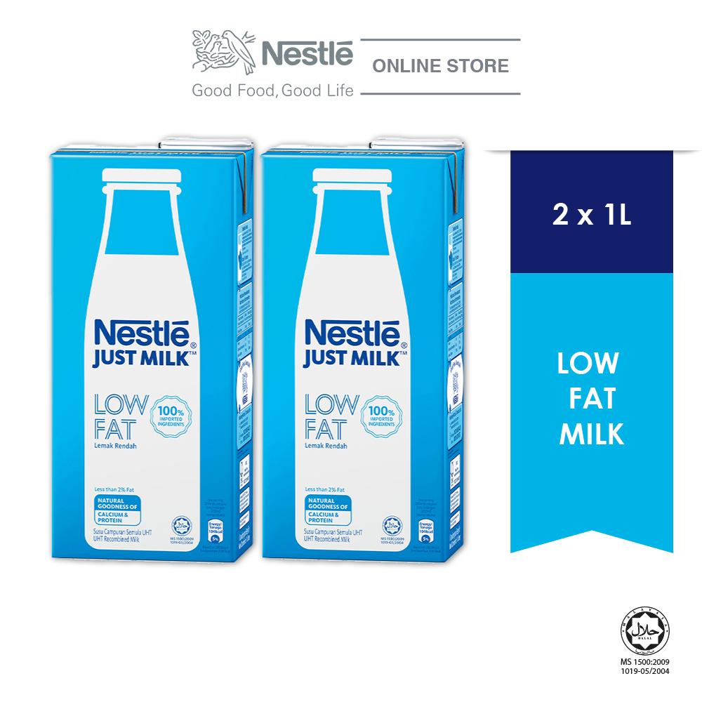 NESTLÉ JUST MILK™ Low Fat Milk 1L x2 packs
