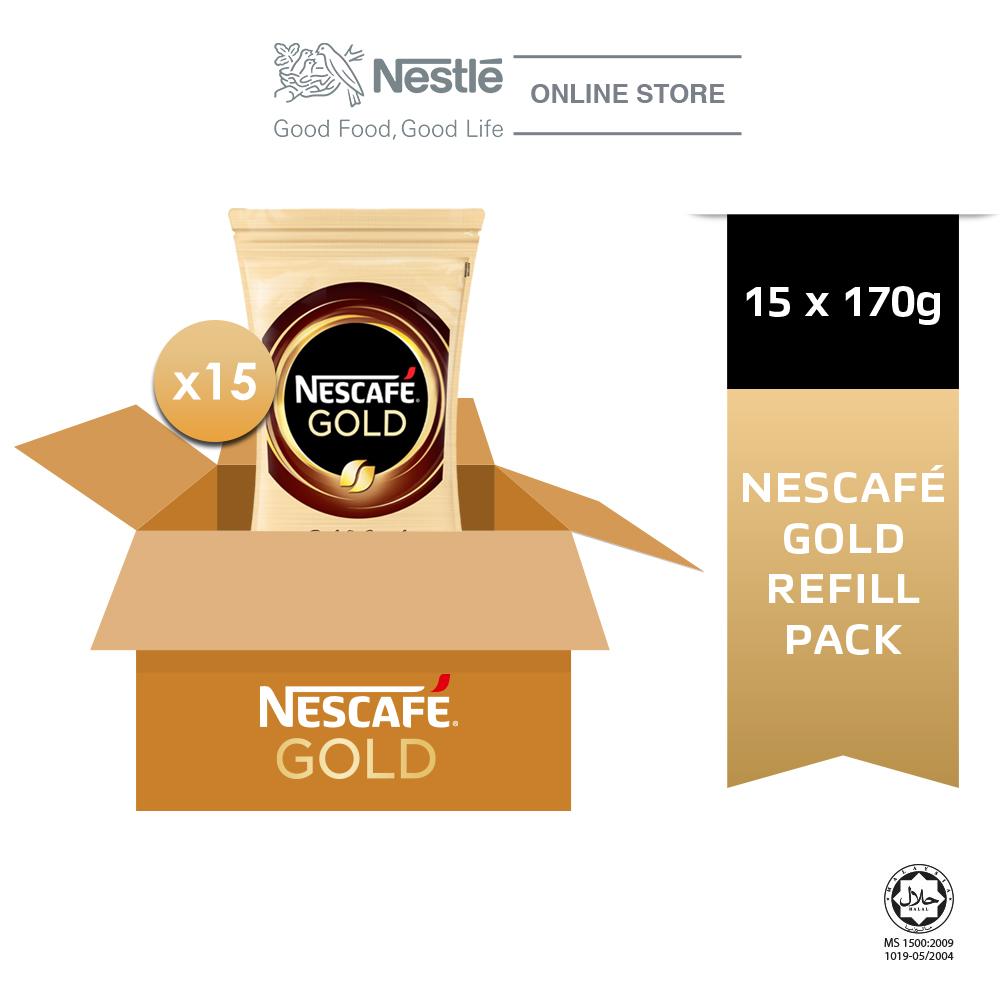 NESCAFE GOLD Refill 170g x 15 packs (Carton)