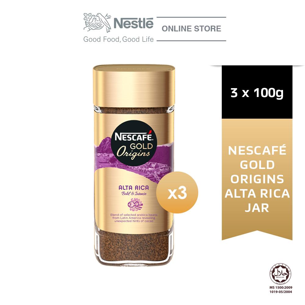 NESCAFE Gold Origins Alta Rica 100g, Bundle of 3