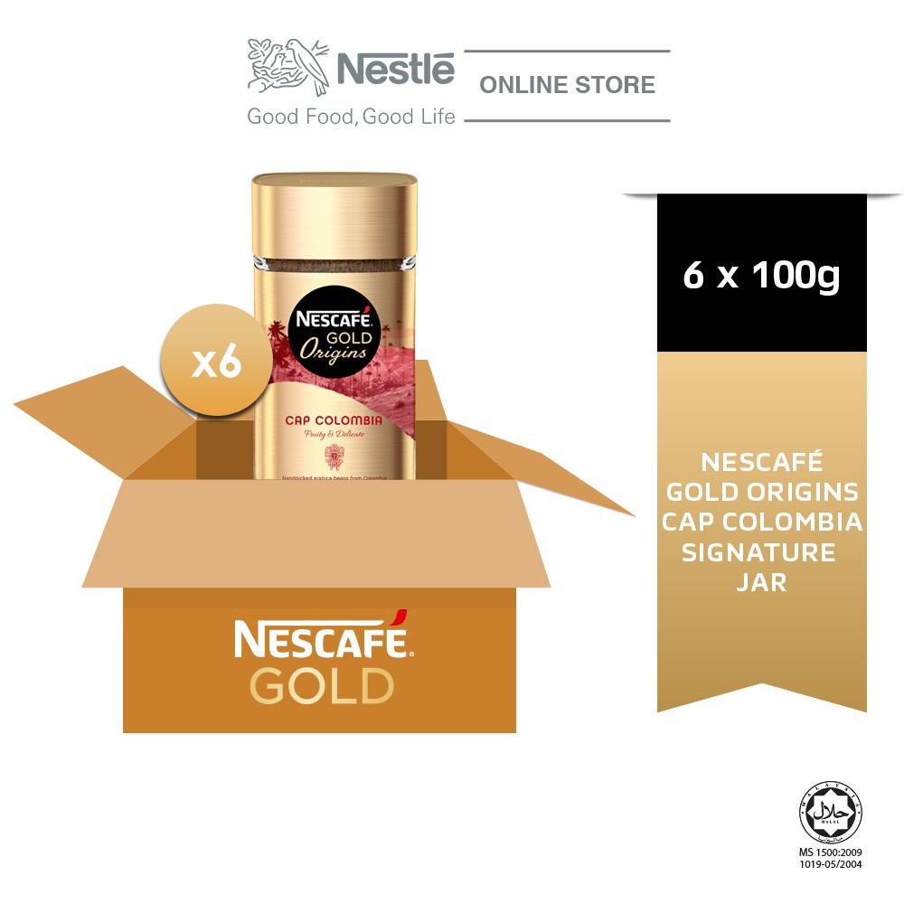 NESCAFE Gold Origins Colombia 100g x 6 Jar (Carton)