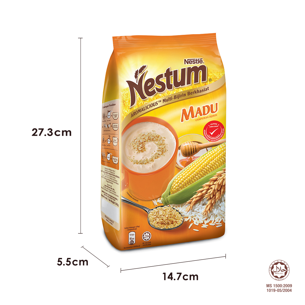 NESTLE NESTUM All Family Cereal Original Softpack 500g, Bundle of 3
