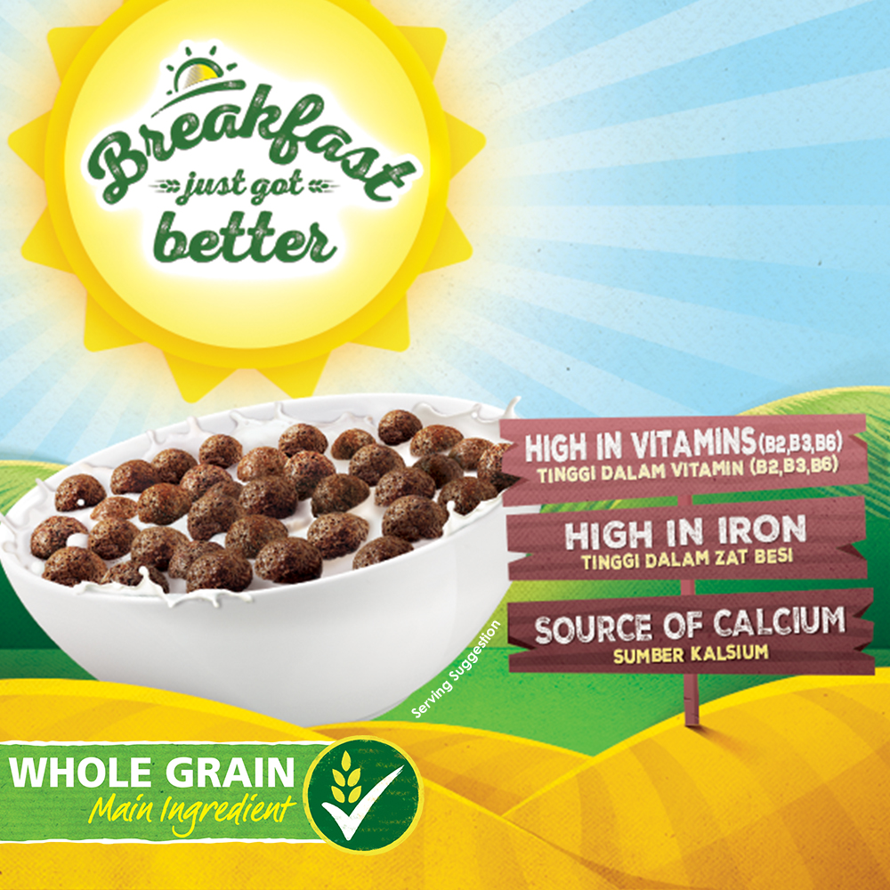 NESTLE MILO Breakfast Cereal Econopack 500g, Bundle of 3
