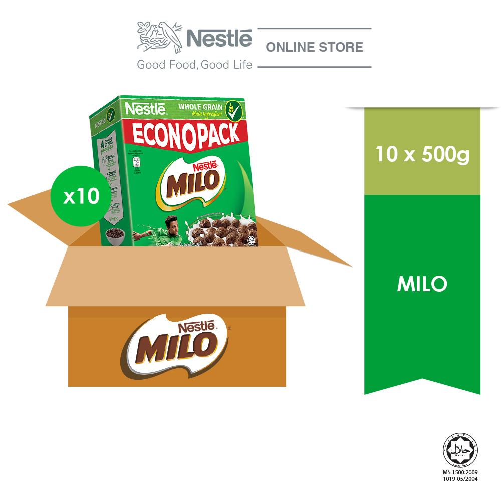 NESTLE MILO Breakfast Cereal Econopack 500g x 10 Box (Carton)