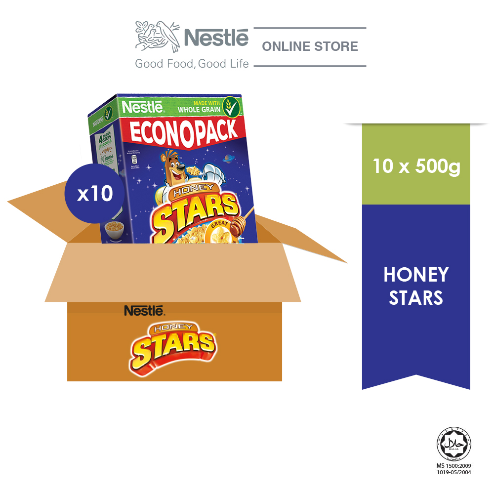 NESTLE HONEY STARS Cereal Econopack 500g x 10 Box (Carton)