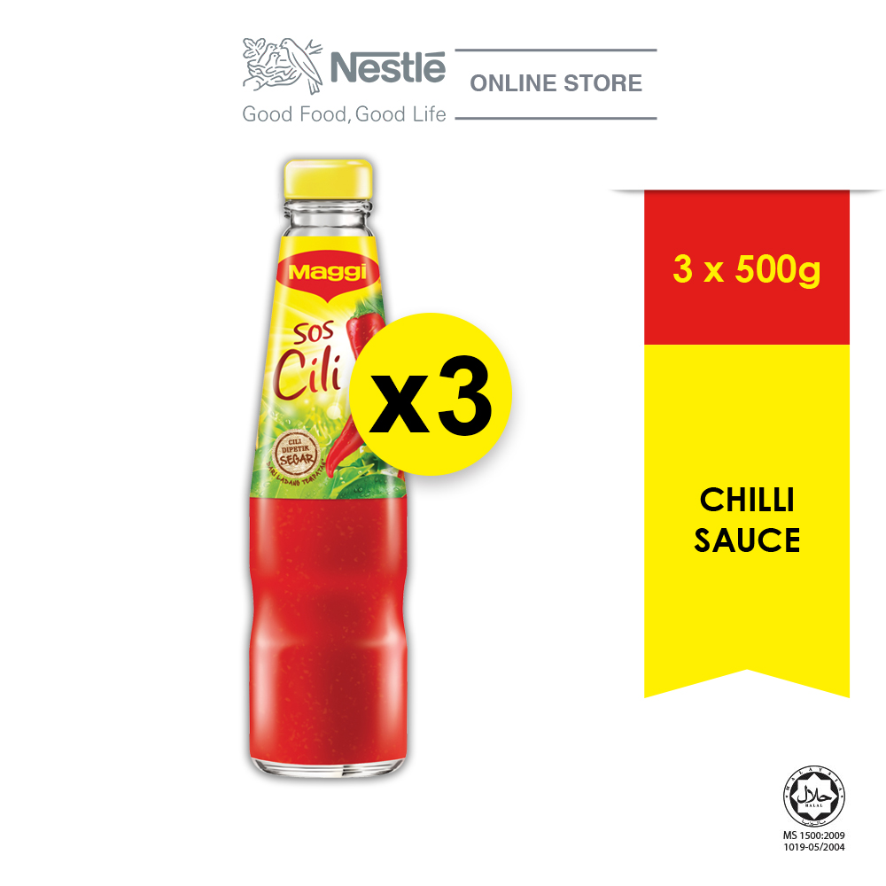 MAGGI Chilli Sauce 500g, Bundle of 3