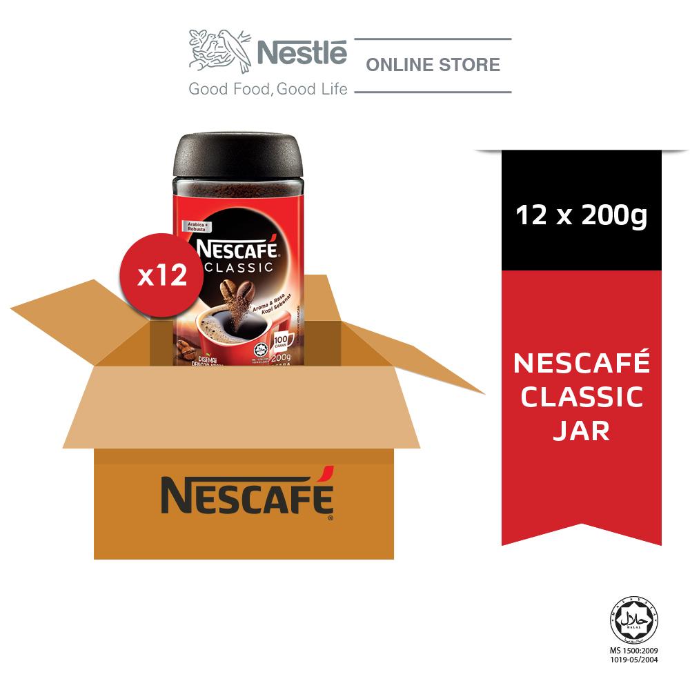 NESCAFE CLASSIC Jar 200g x 12 (Carton)