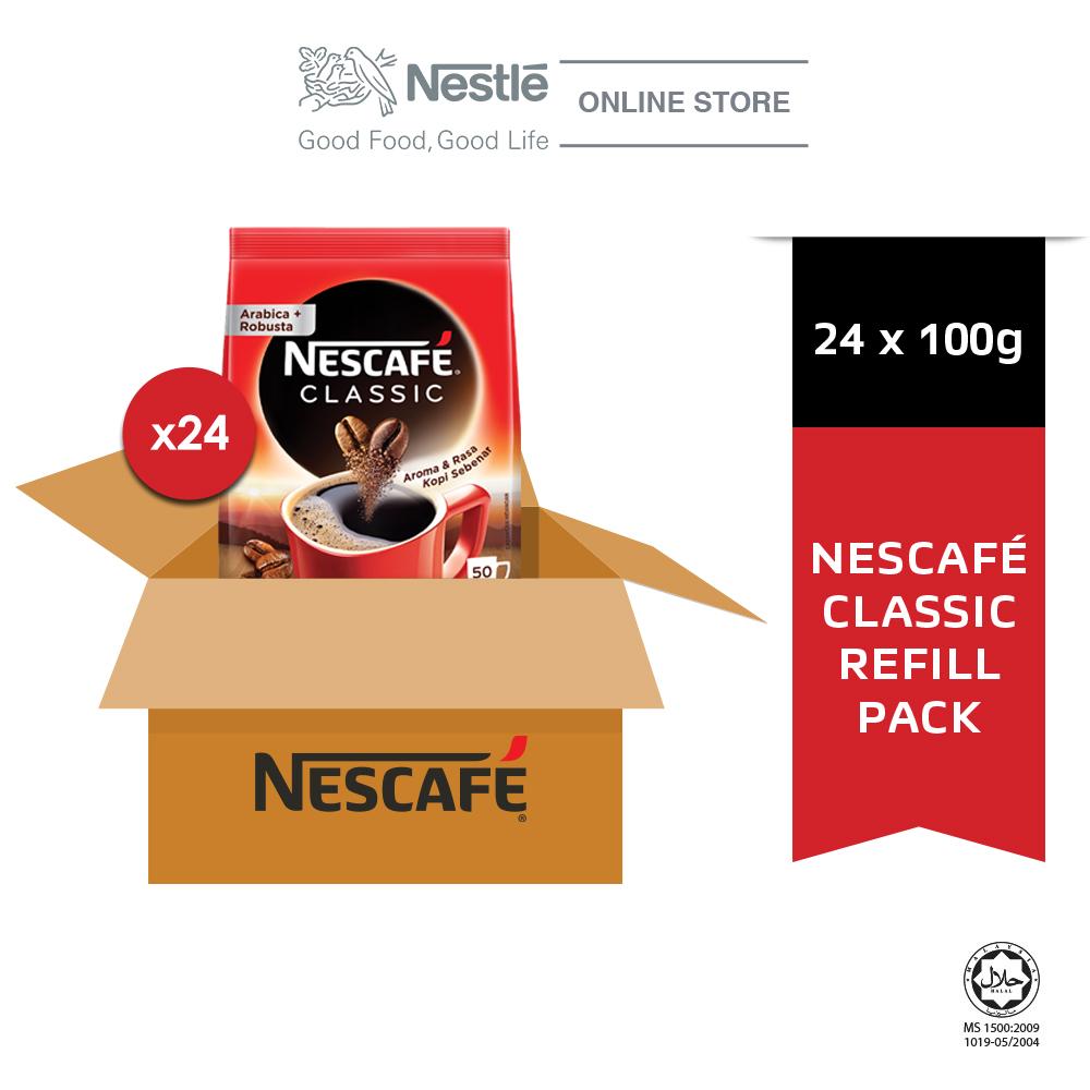 NESCAFE CLASSIC Refill 100g x 24 packs (Carton)