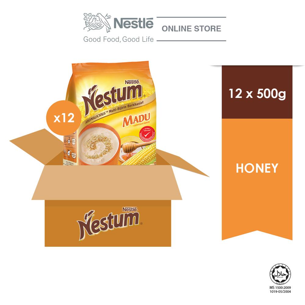 NESTLE NESTUM All Family Cereal Honey Softpack 500g, Bundle of 3