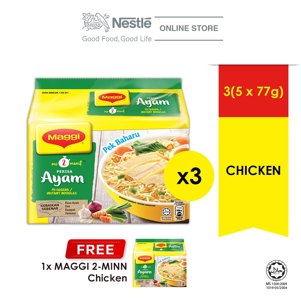 MAGGI 2-MINN Chicken 5 Packs 77g Buy 3 Free 1 Maggi 2- MINN Chicken Multipack