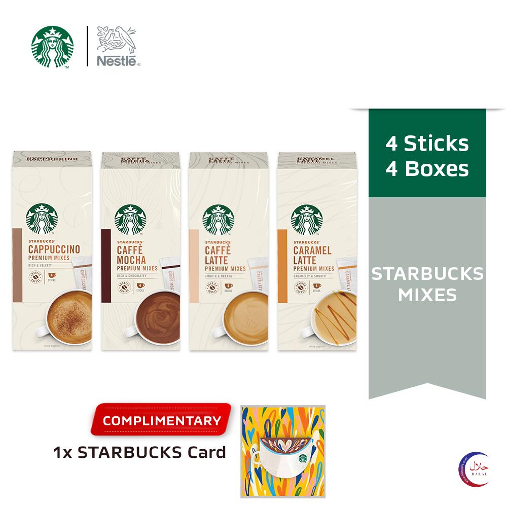 STARBUCKS Premium Instant (4x14g), Buy 4 Free 1 STARBUCKS Card (Worth RM10) [Exp Date:Feb2021]