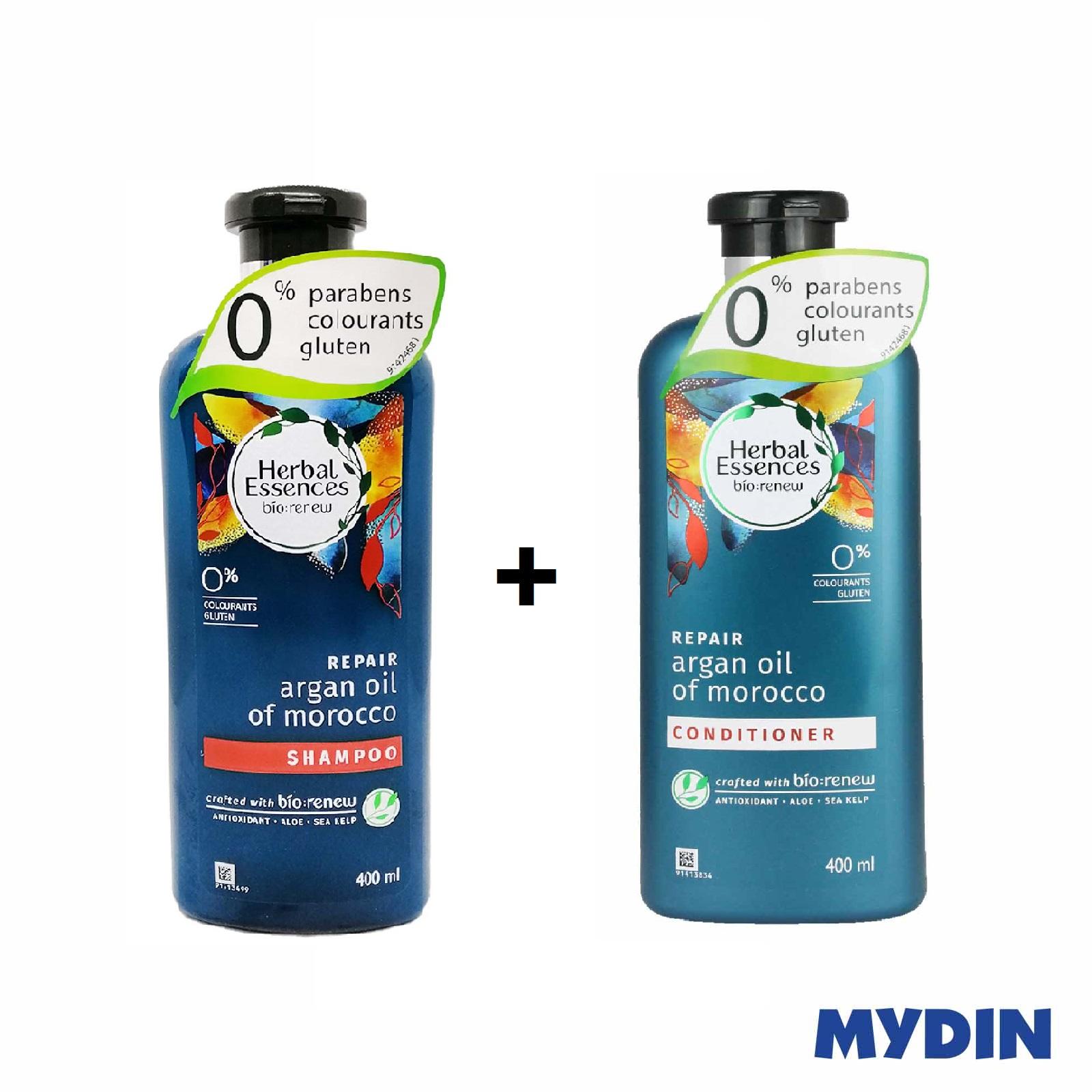 [Bundle Set] Herbal Essences Argan Oil Of Morocco Shampoo (400ml) + Conditioner (400ml)