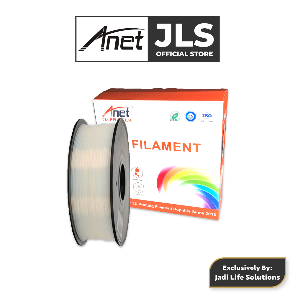 ANET 340M 1.75MM PLA 3D Printing Filament Biodegradable Material (WHITE)